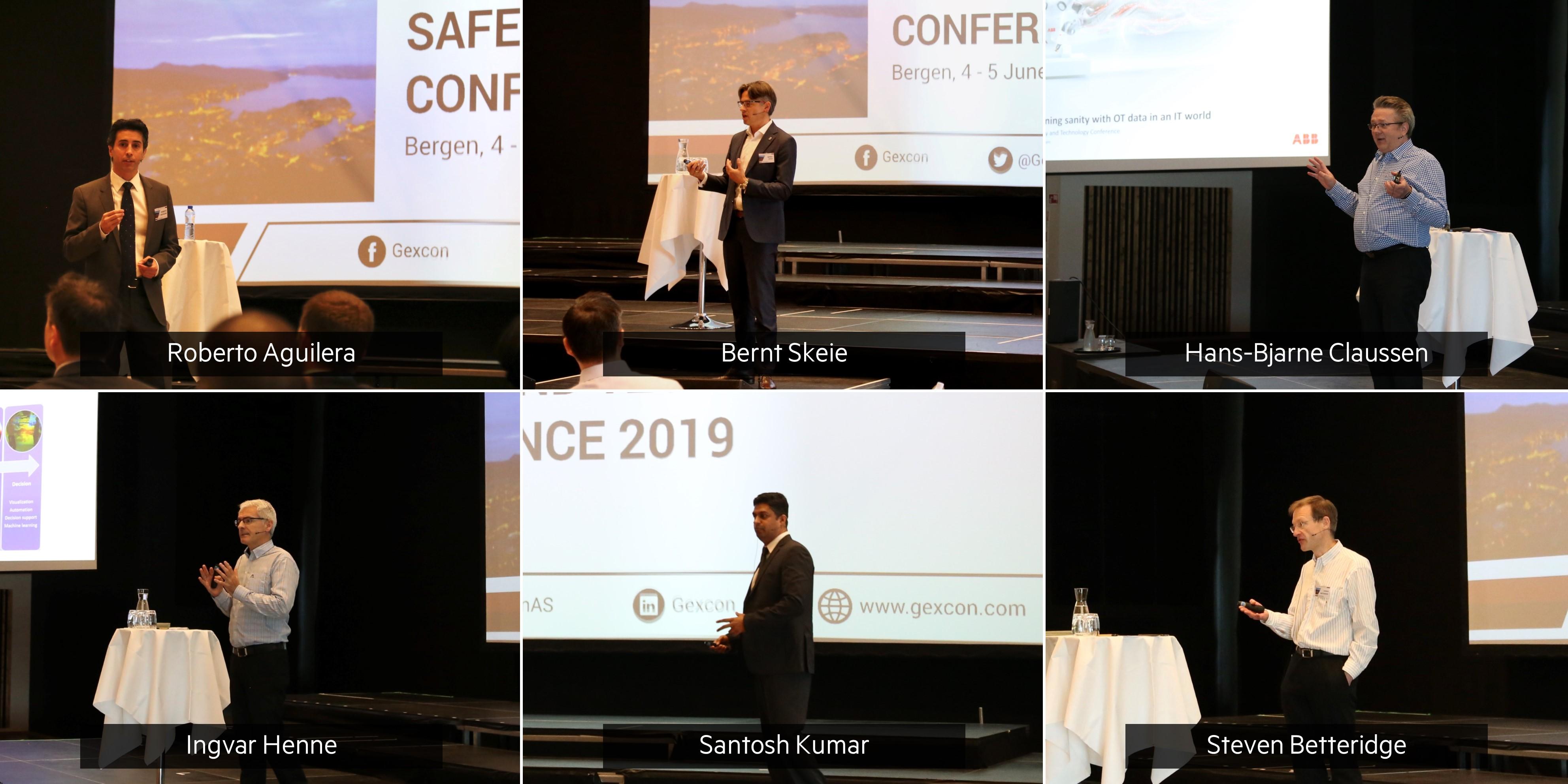 Para pembicara utama Konferensi Keselamatan dan Teknologi Gexcon 2019
