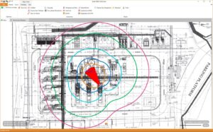 Jet Fire overlaid on Plot Plan