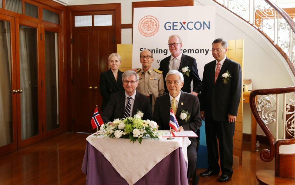 Gexcon and King Mongkut's University of Technology Thonburi signed a Memorandum of Understanding (MoU)