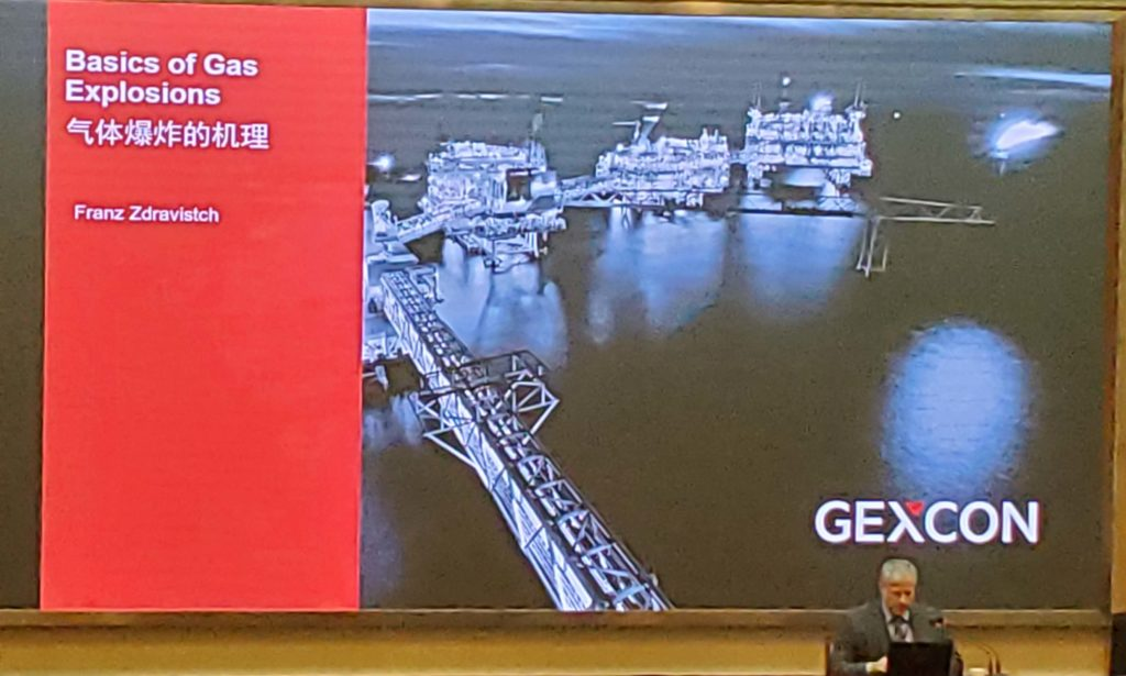 Dr. Franz Zdravistch delivered the keynote speech at the 3rd National Symposium on Safety Science and Emergency Management in China