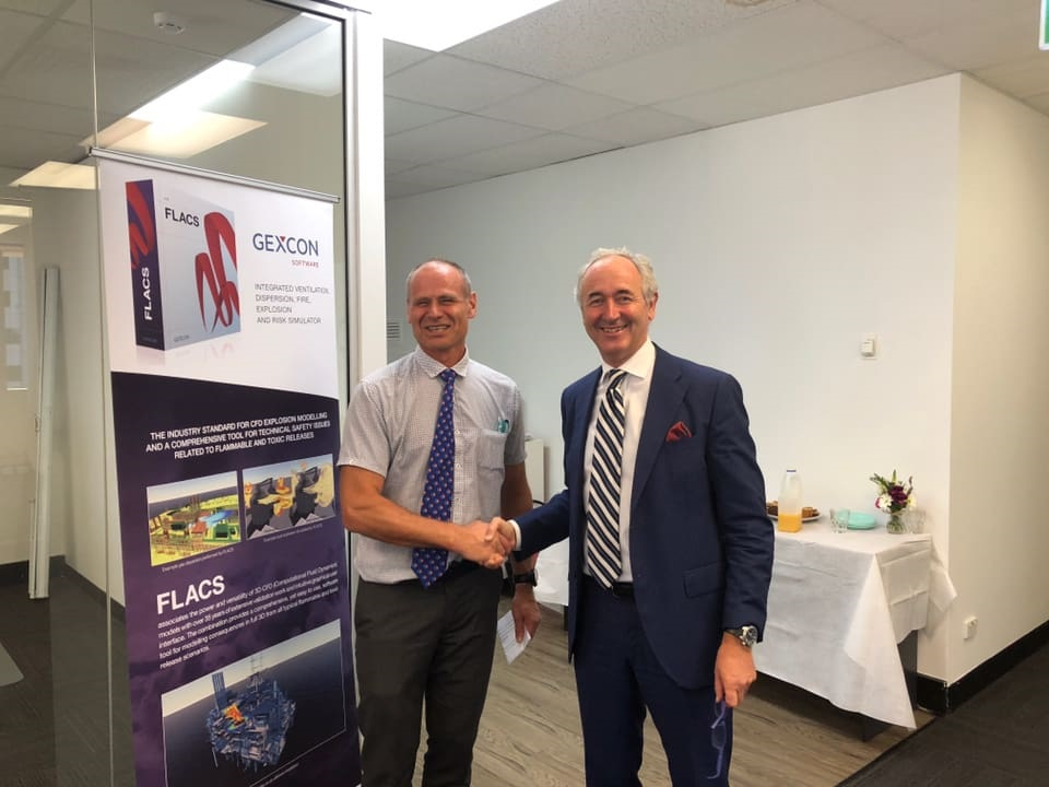 Gexcon Australia opens second office in Perth. The official opening was made by Ambassador Paul Gulleik Larsen representing the Norwegian Embassy in Australia