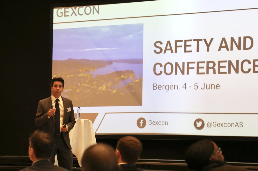 Presentation by Roberto Aguilera at Gexcon Safety and Technology Conference 2019