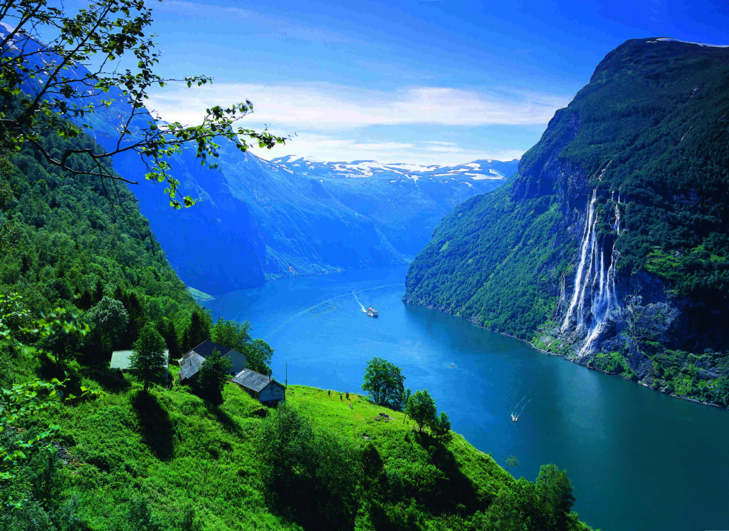 Geirangerfjord, a UNESCO World Heritage site, located in the Sunnmøre region of Møre og Romsdal county, Norway. (Photo credit: Per Eide)