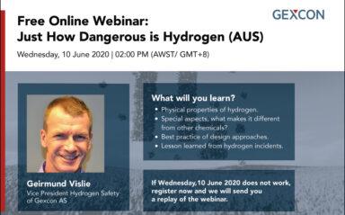 Webinar: Just How Dangerous is Hydrogen (AUS)