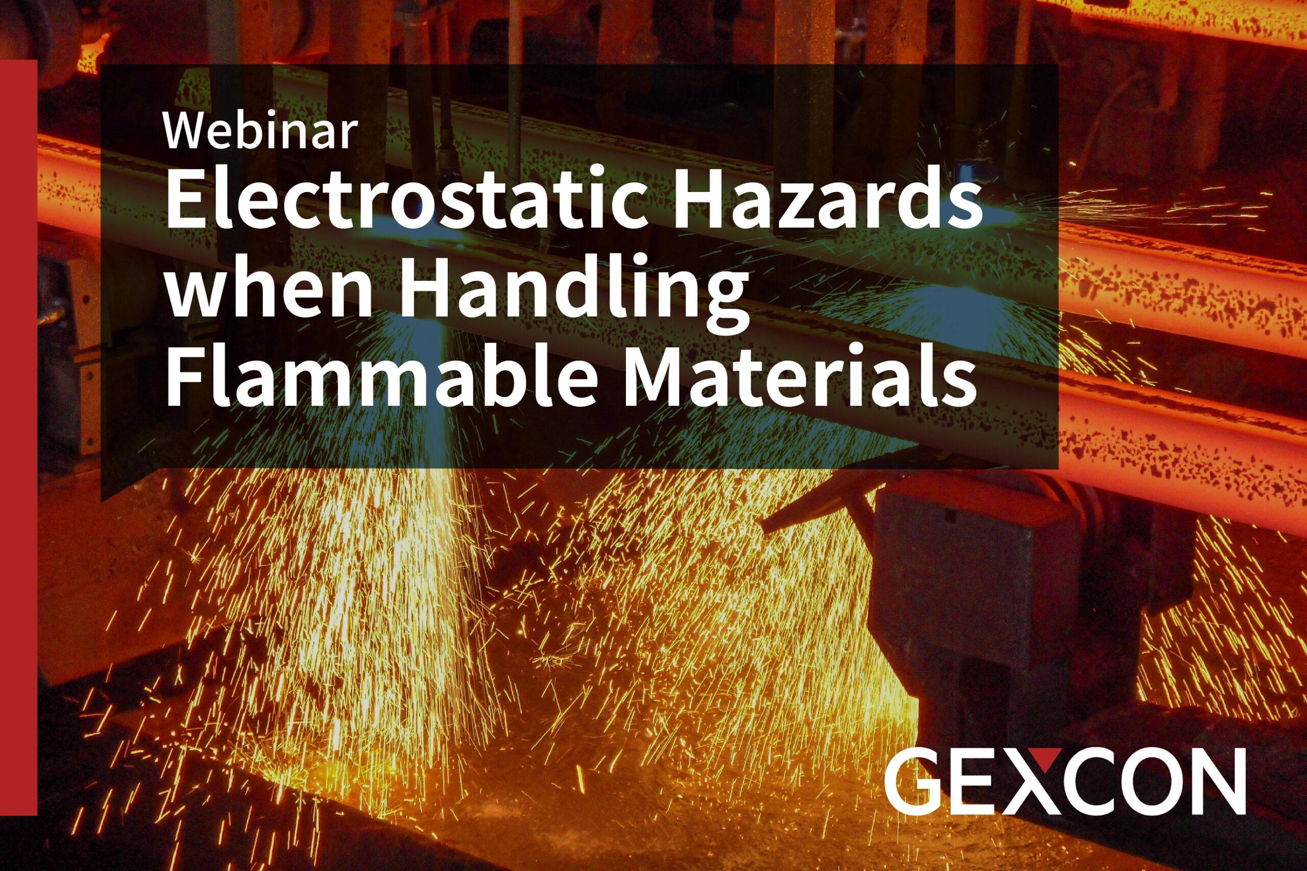Webinar - Electrostatic Hazards when Handling Flammable Materials
