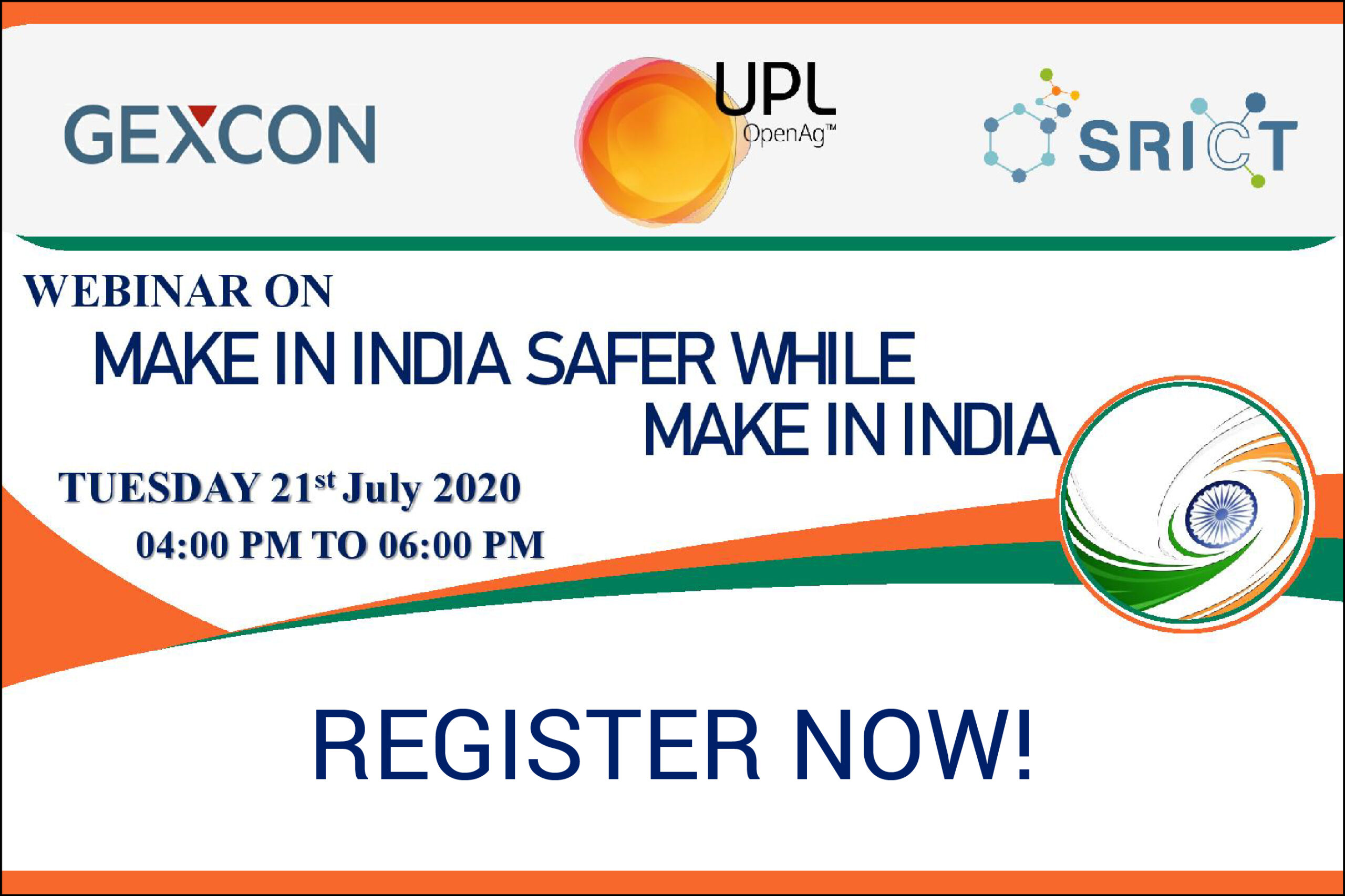 Make in India Safer While Make in India Webinar by Gexcon and UPL