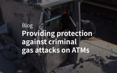 Providing protection against criminal gas attacks on ATM's