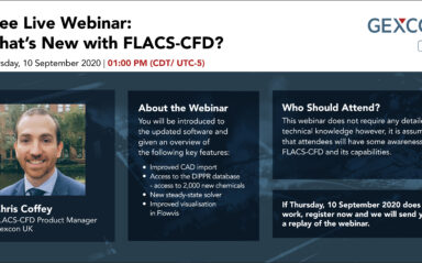 Webinar: What's New with FLACS-CFD? (CDT Timezone)
