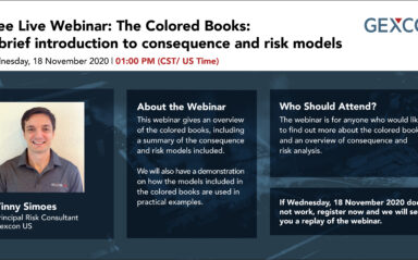 Webinar: The Colored Books: A brief introduction to consequence and risk models (CST/ US Time)