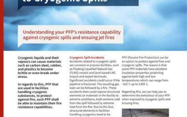 Testing of Passive Fire Protection (PFP) Related to Cryogenic Spills Data Card