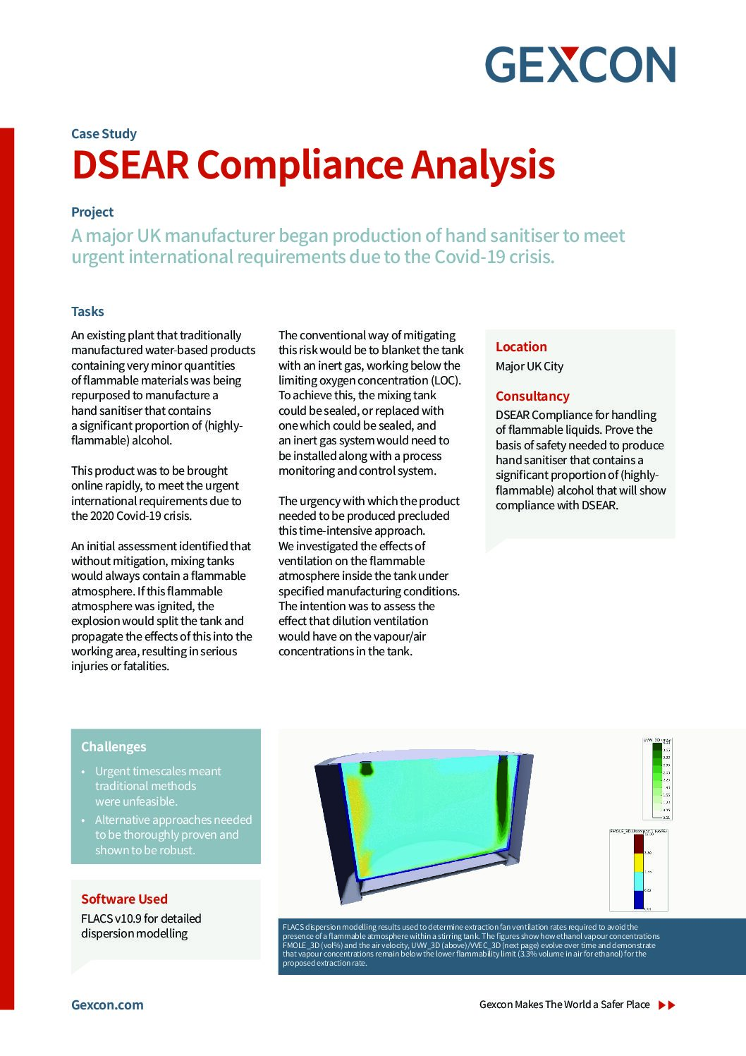 DSEAR Compliance Analysis - Hand Sanitiser Manufacturing