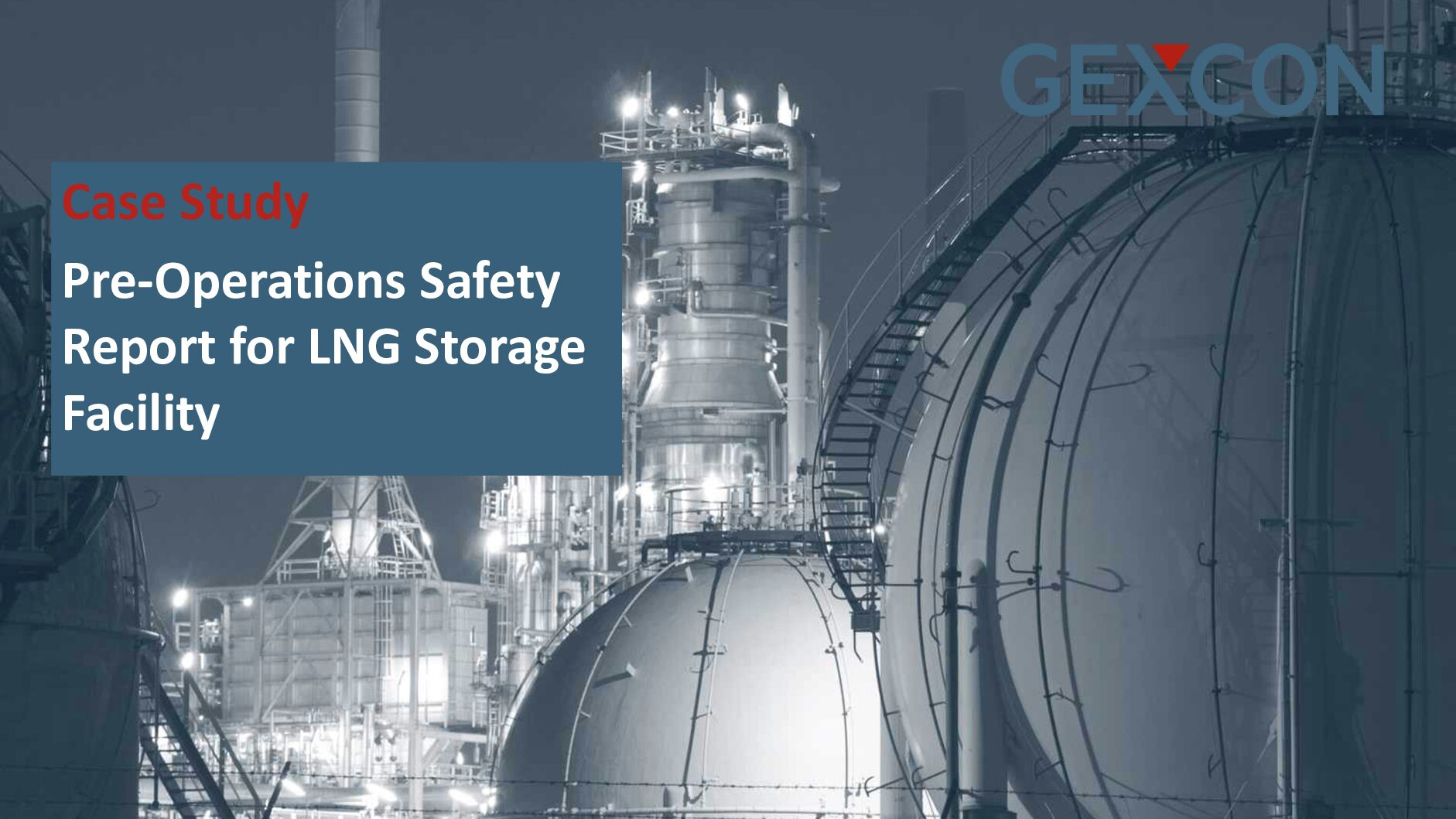 Pre-Operations Safety Report for LNG Storage Facility